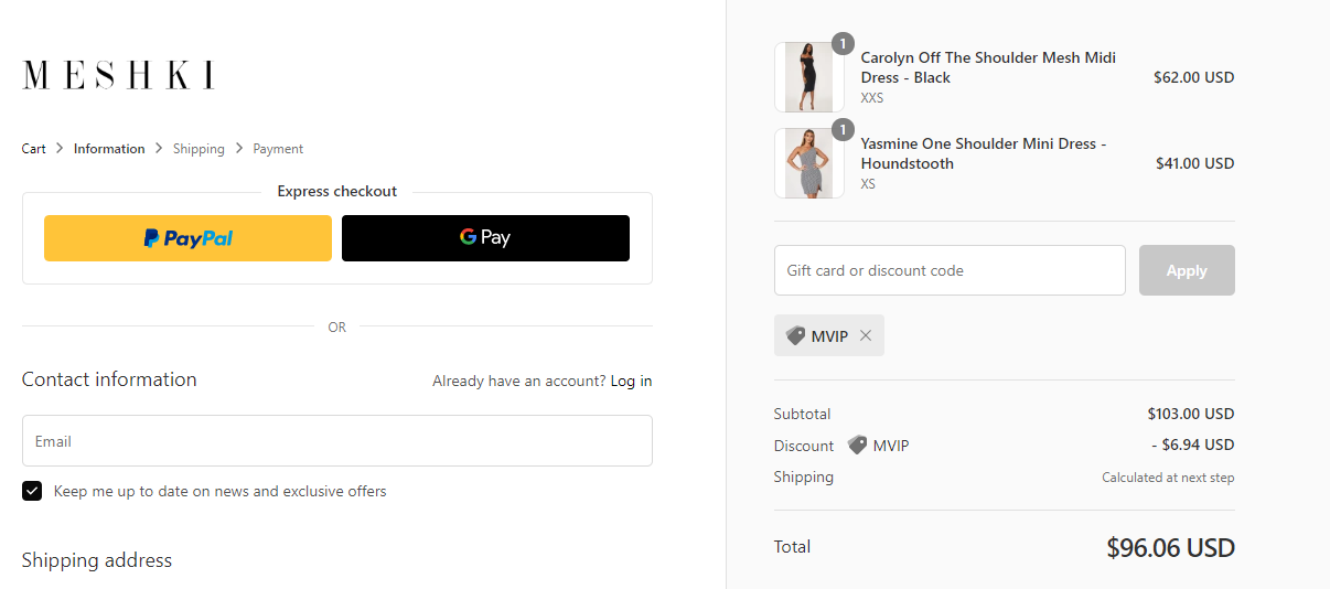 Meshki Discount Code