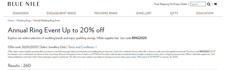 Blue Nile discount code