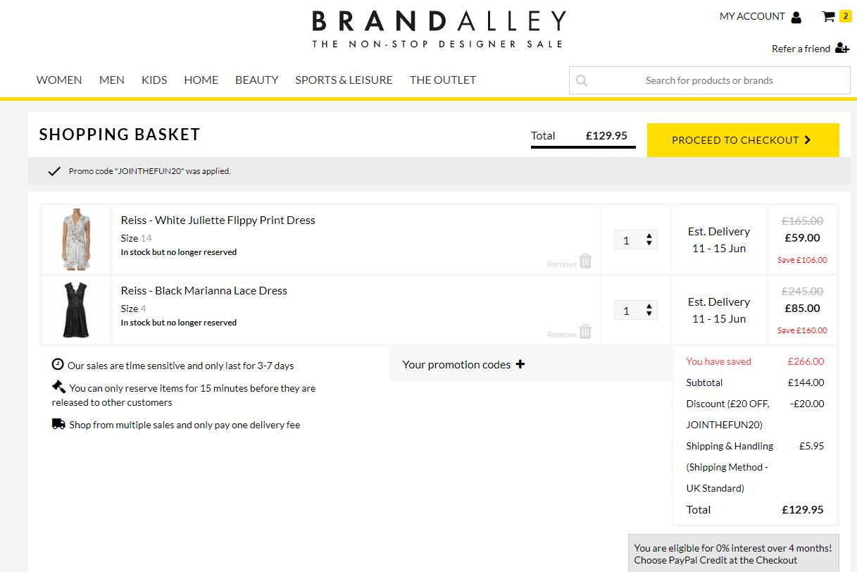 BrandAlley promo code