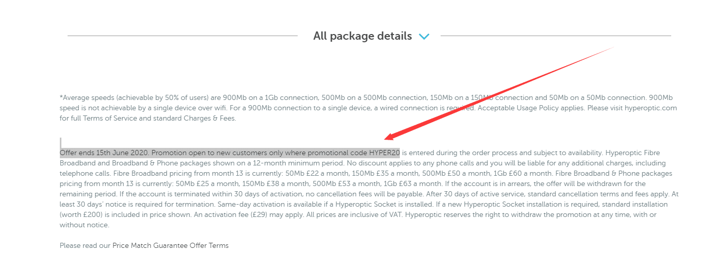 Hyperoptic Discount code