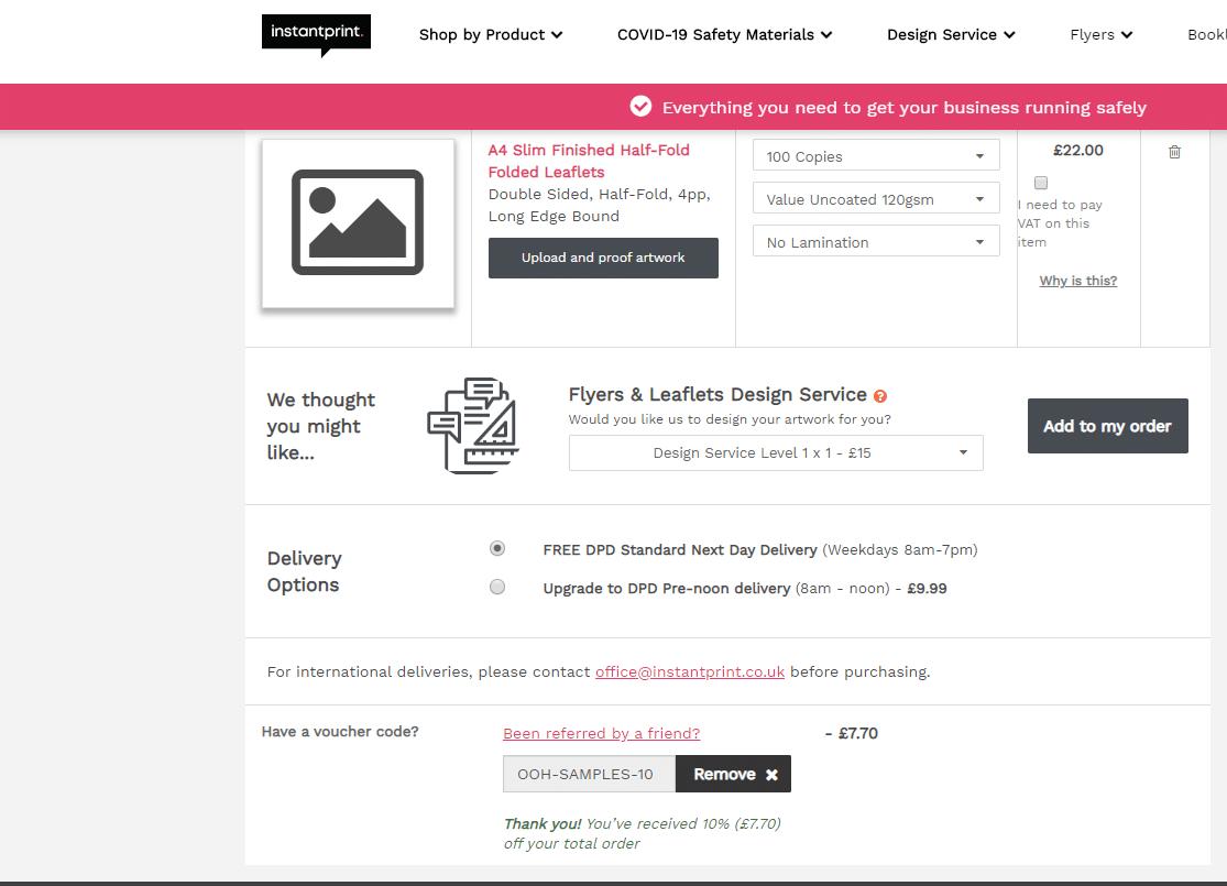 Instant Print Voucher Code