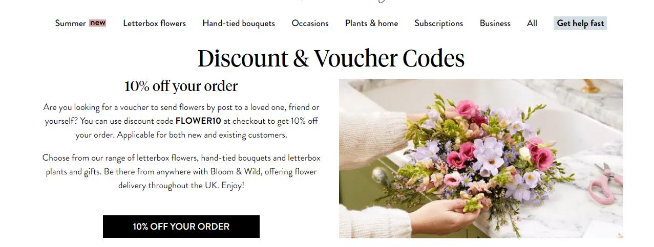 Bloom & Wild Discount Code