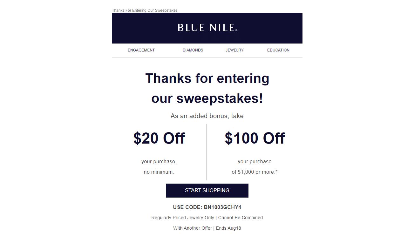 Blue Nile Promo Code