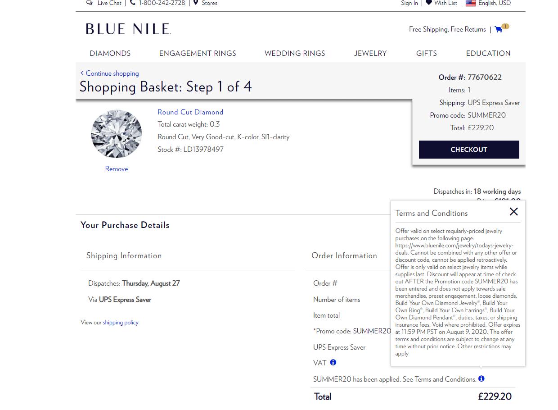 Blue Nile 30% off Promo Code