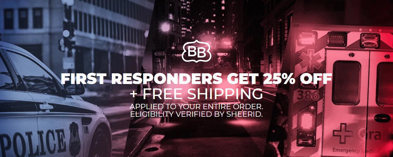 brooklynbedding.com 25% off First respaonders offer