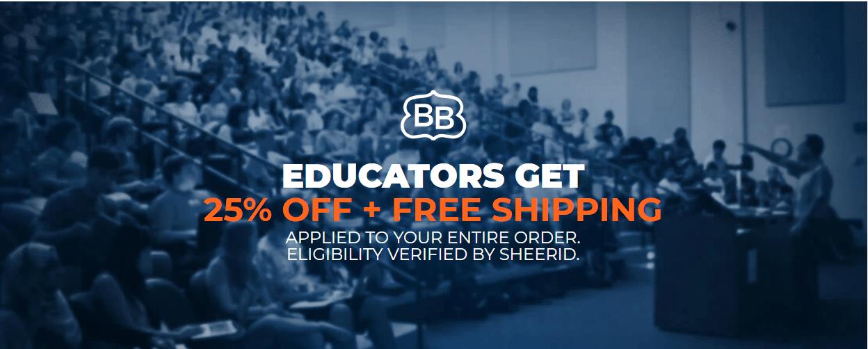 brooklynbedding.com 25% off educator discount