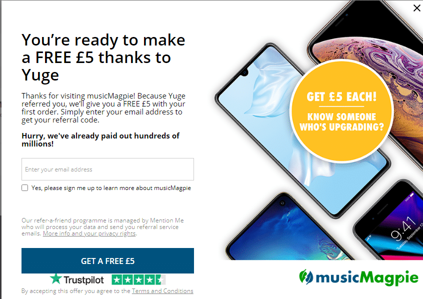 musicmagpie.co.uk £5 more refer a friend discount