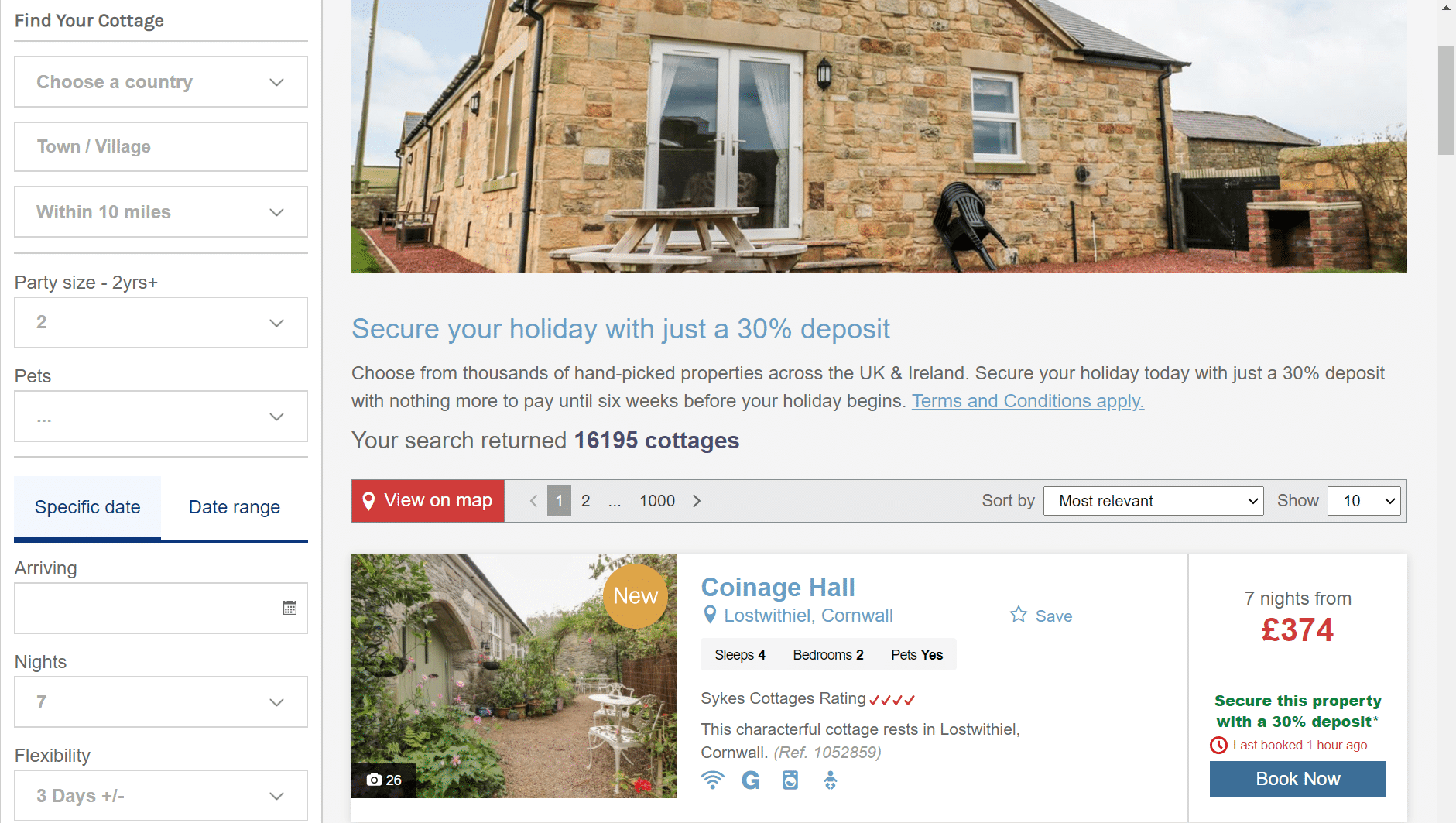 Sykes Holiday Cottages deal