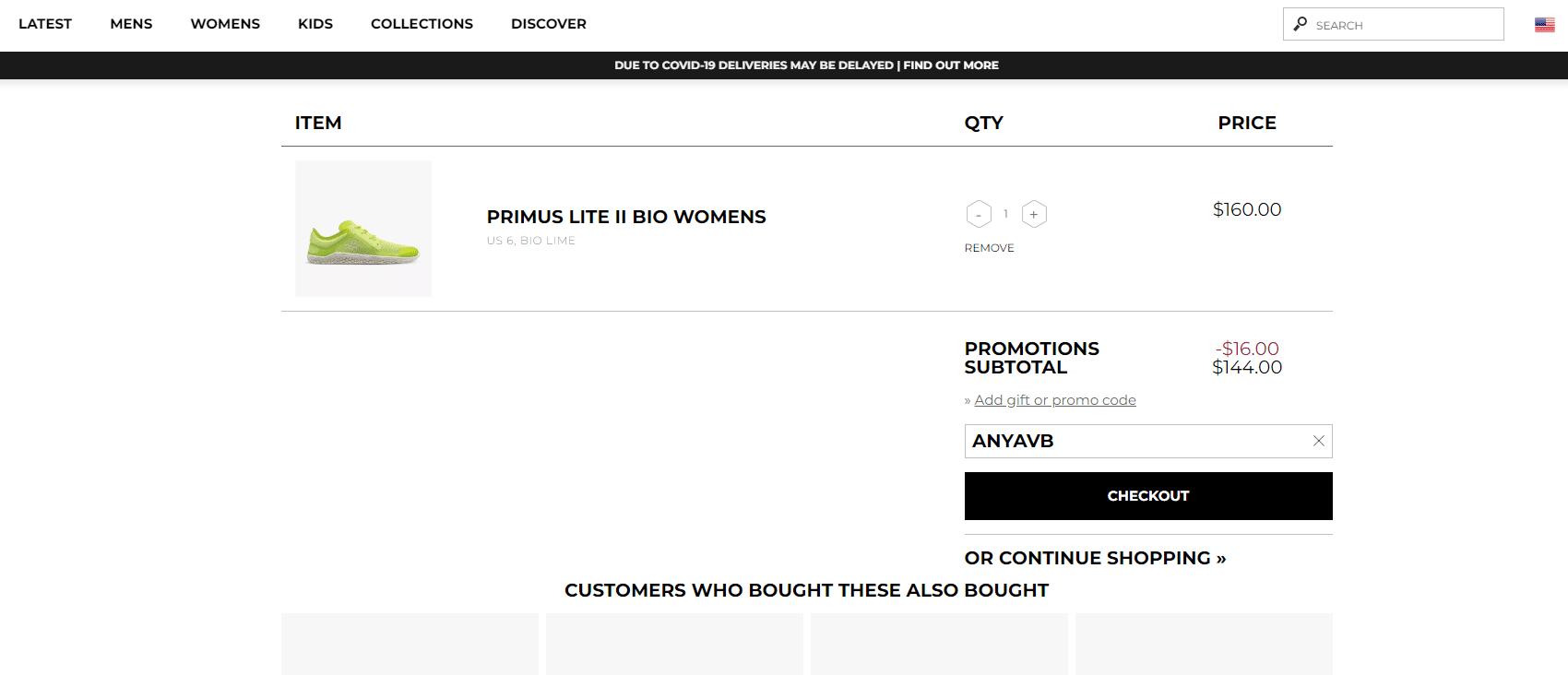 vivobarefoot.com 10% OFF promo code