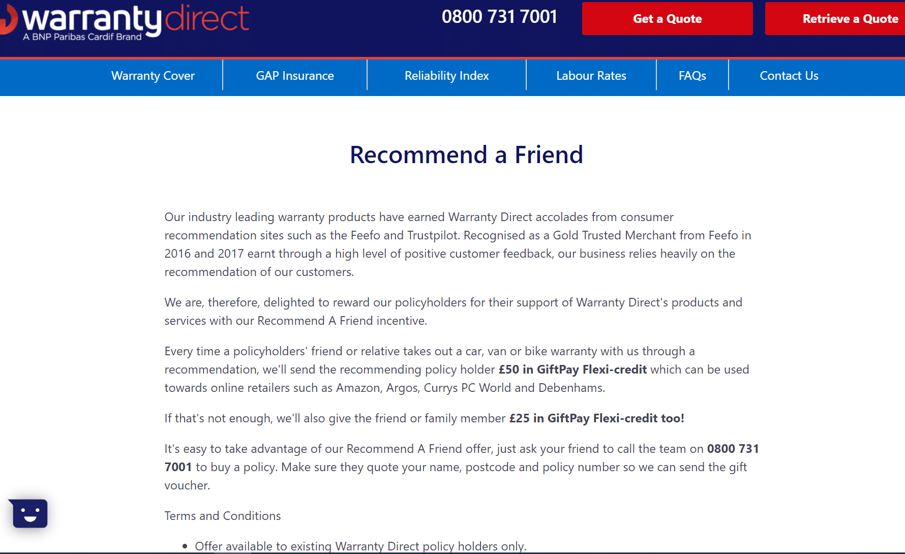 Warranty Direct referral code