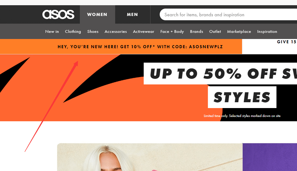 asos 10% off coupon for new customers