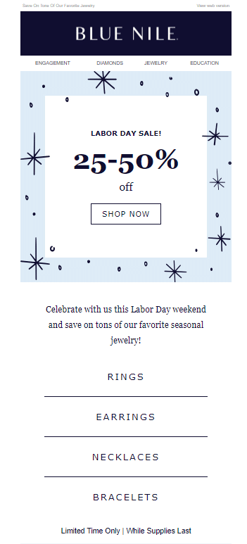 Blue Nile discount