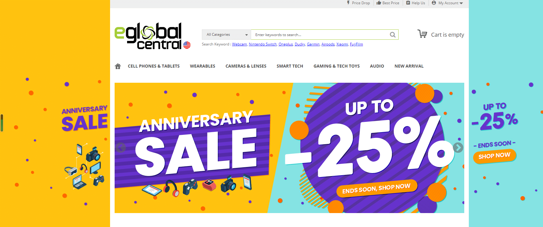 eGlobal Central Anniversary Sale