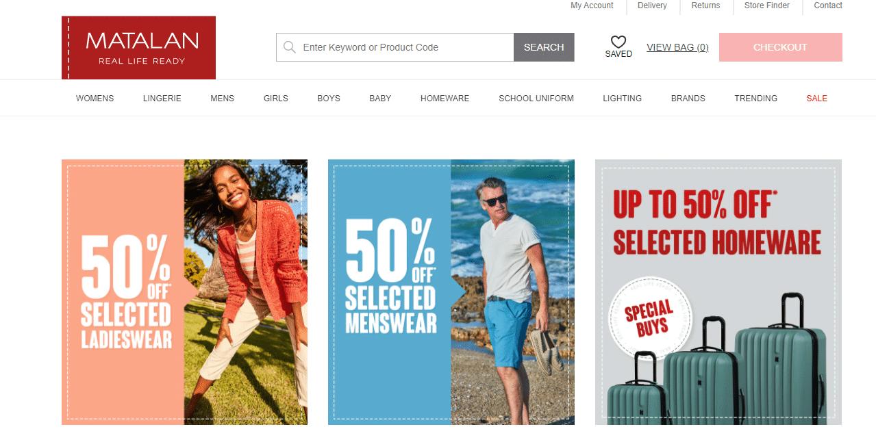 matalan 50% off deals