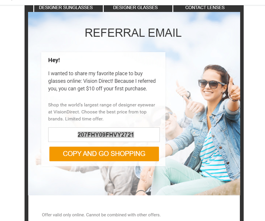 Vision Direct referral code