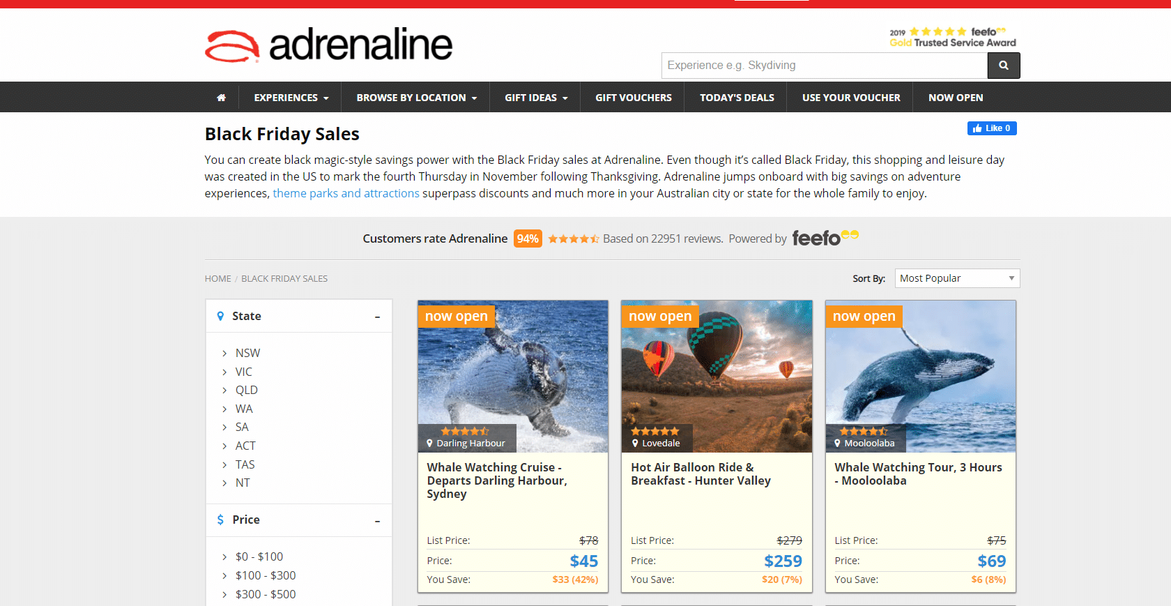 Adrenaline Black Friday Sale