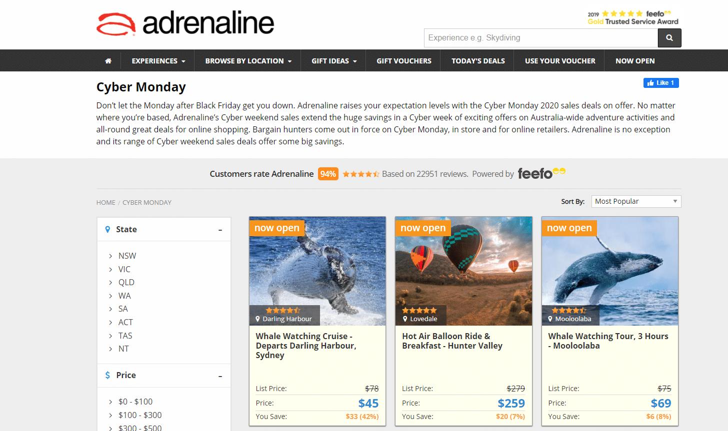 Adrenaline Cyber Monday Deals