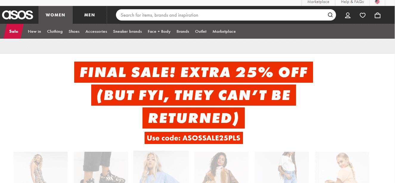 asos 25% off discount code