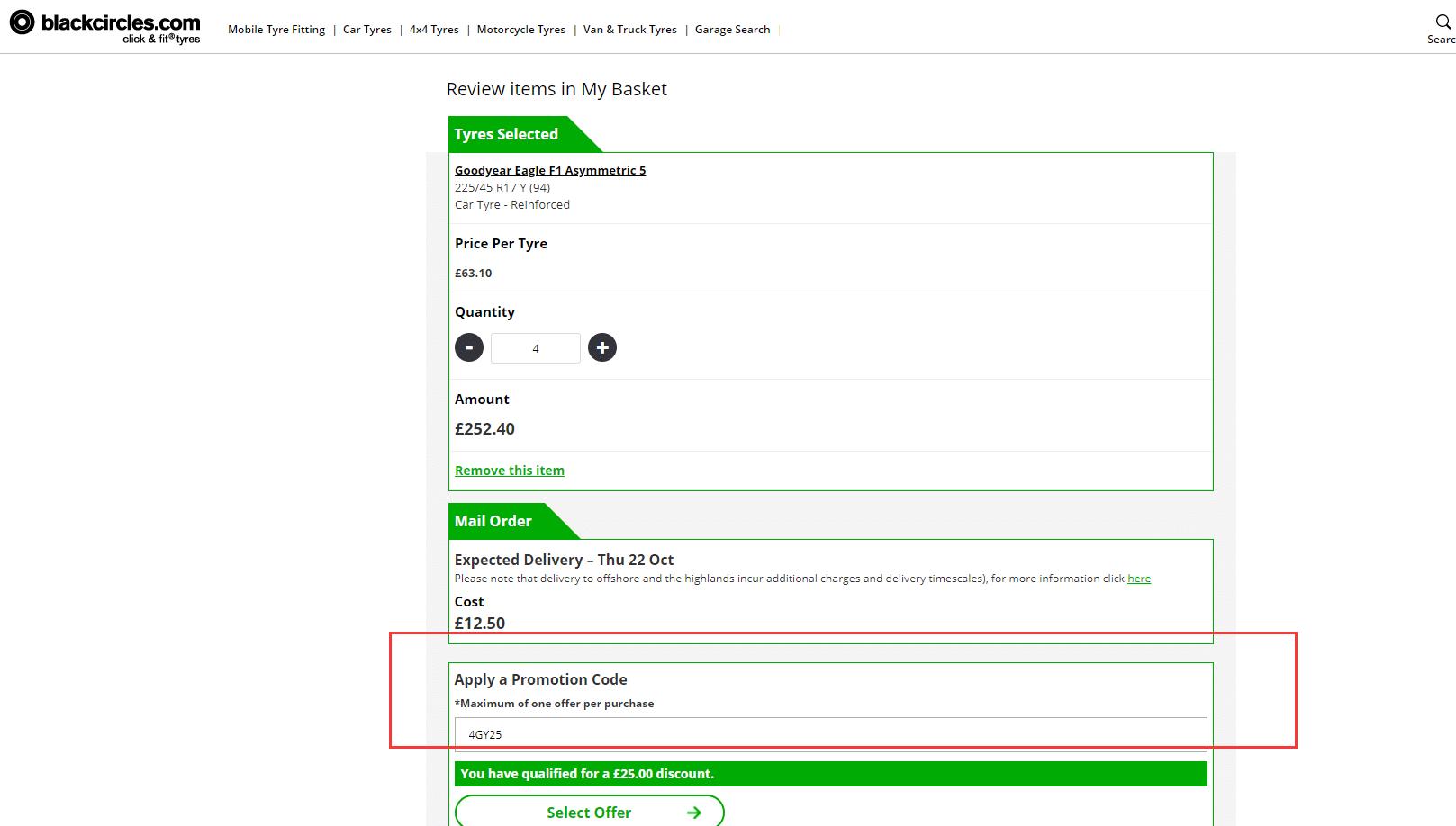 £25 OFF Black Circles Discount Code