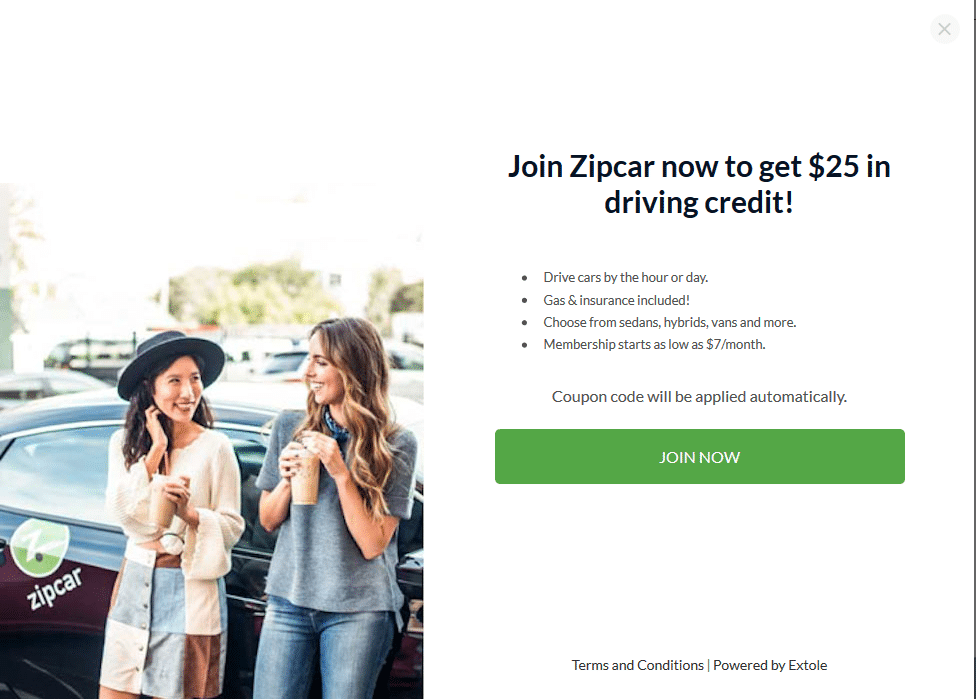 $25 zipcar refer a friend link