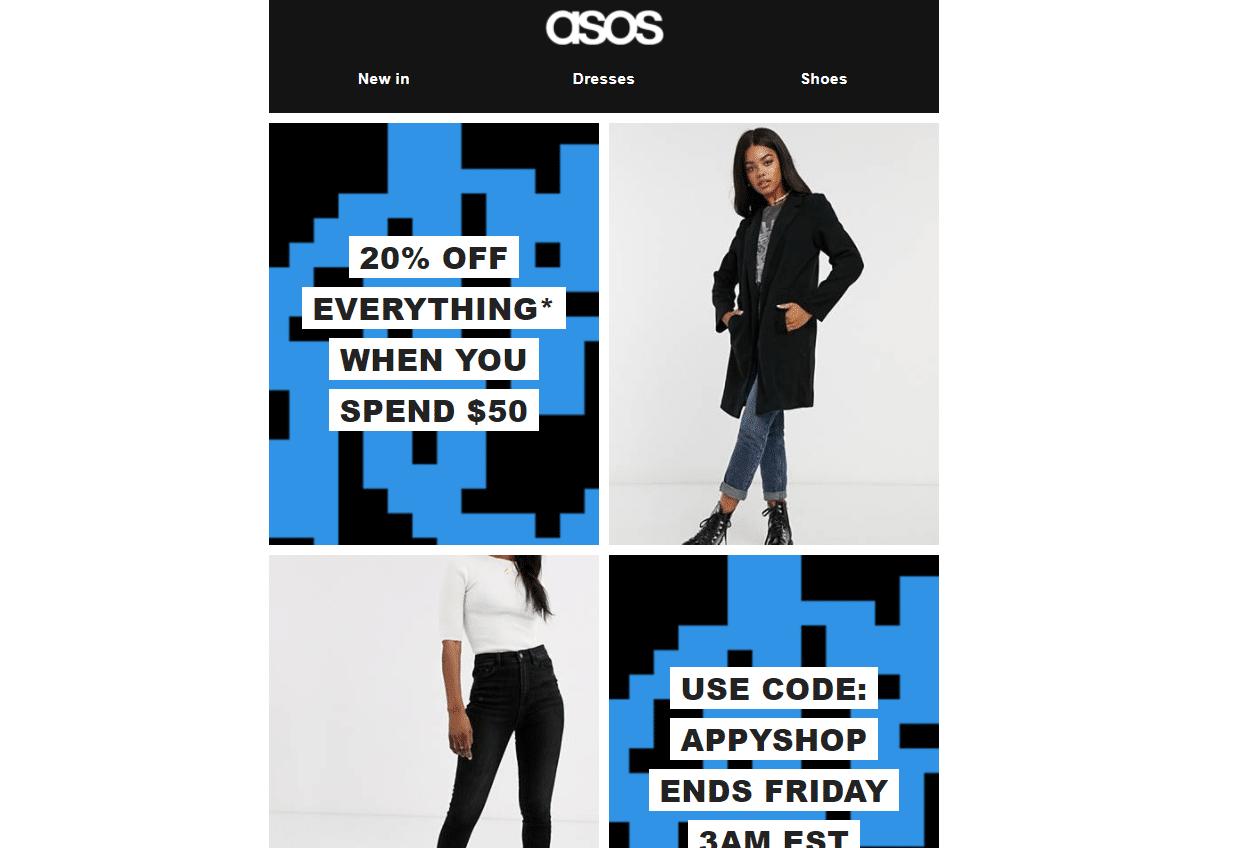 Asos 20% OFF discount code
