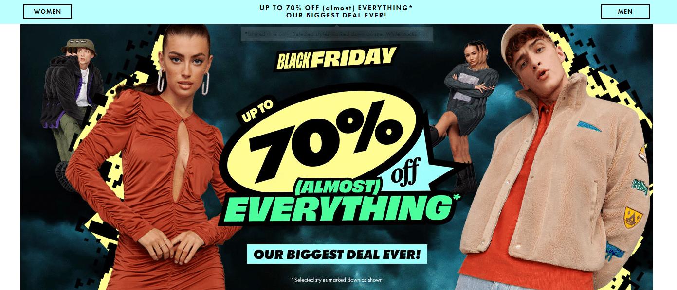 asos.com up to 70% off black friday deal