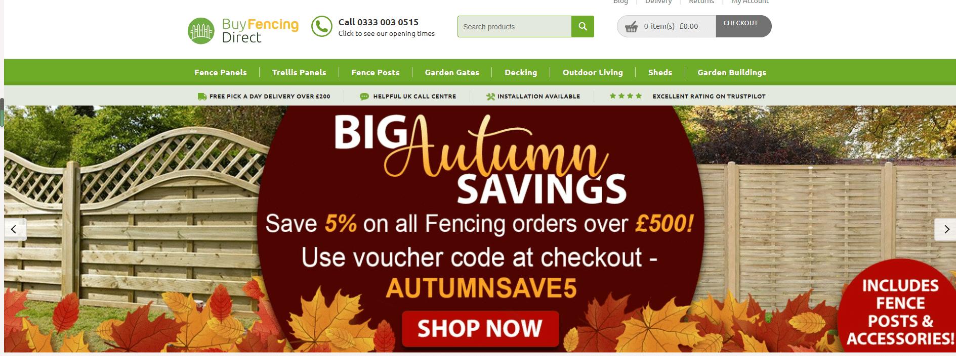 5% OFF Buy Fencing Direct Discount Code
