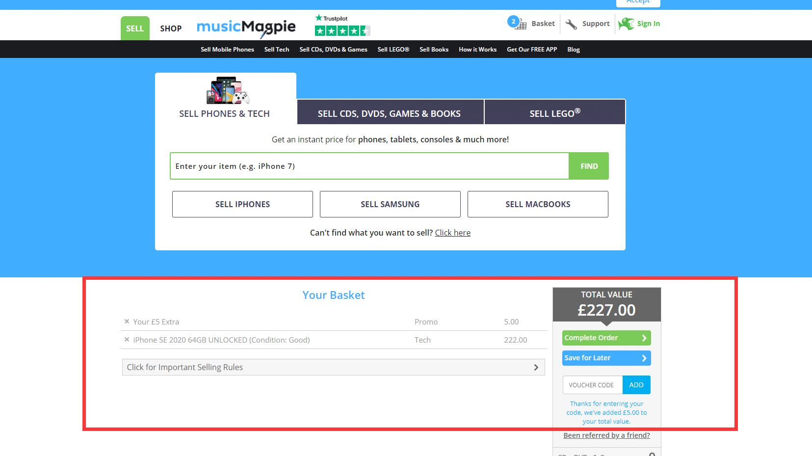 Music Magpie £5 Discount Code