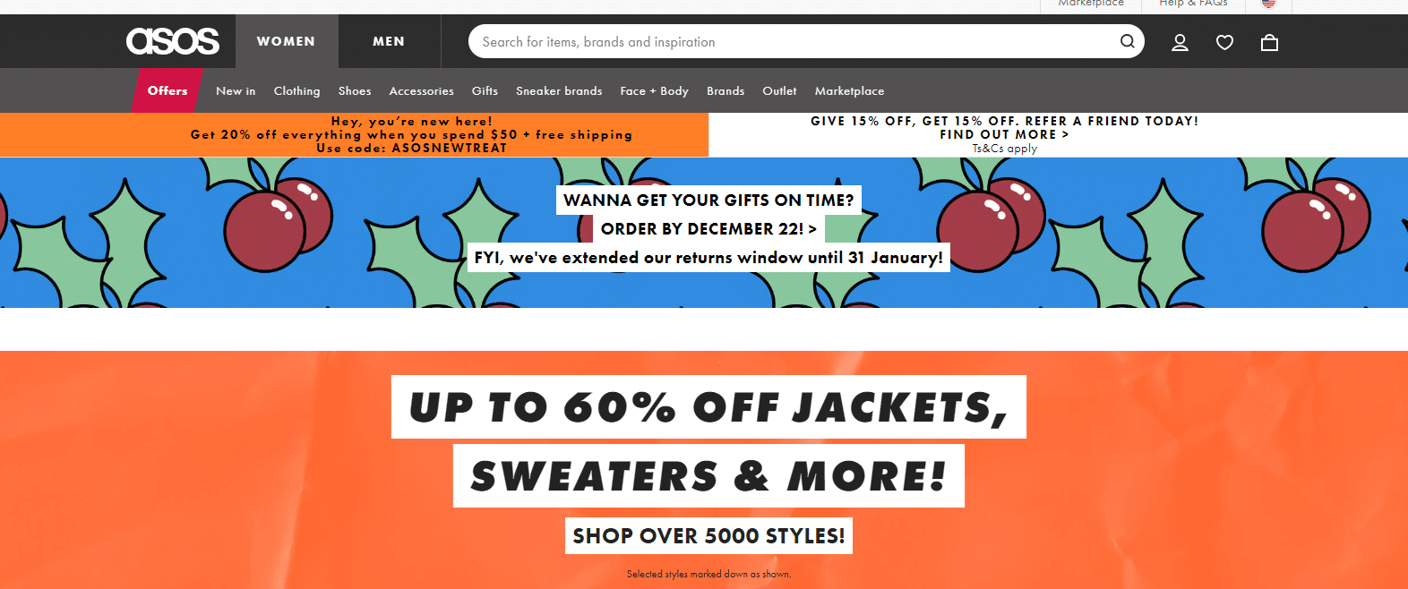 asos 20% off coupon code for first order