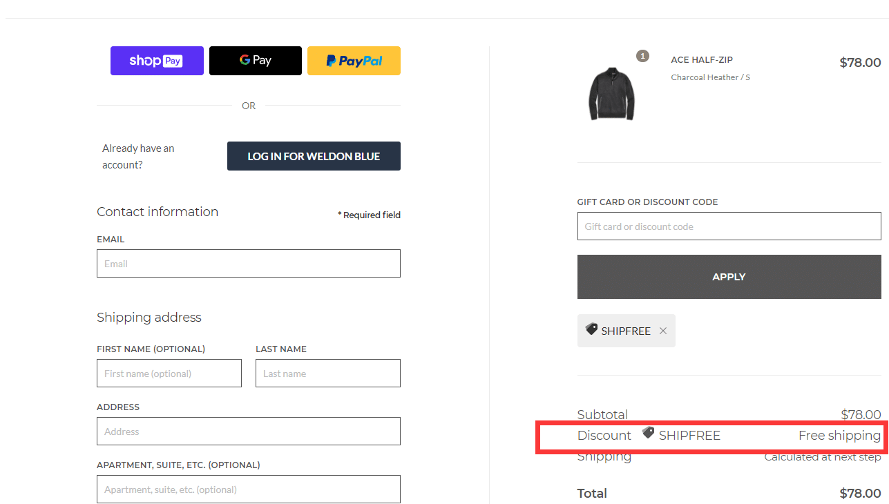 mackweldon.com free shipping code