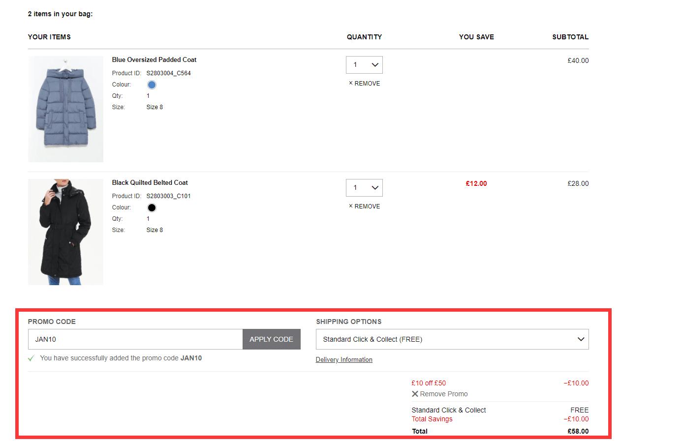matalan.co.uk £10 off £50 discount code