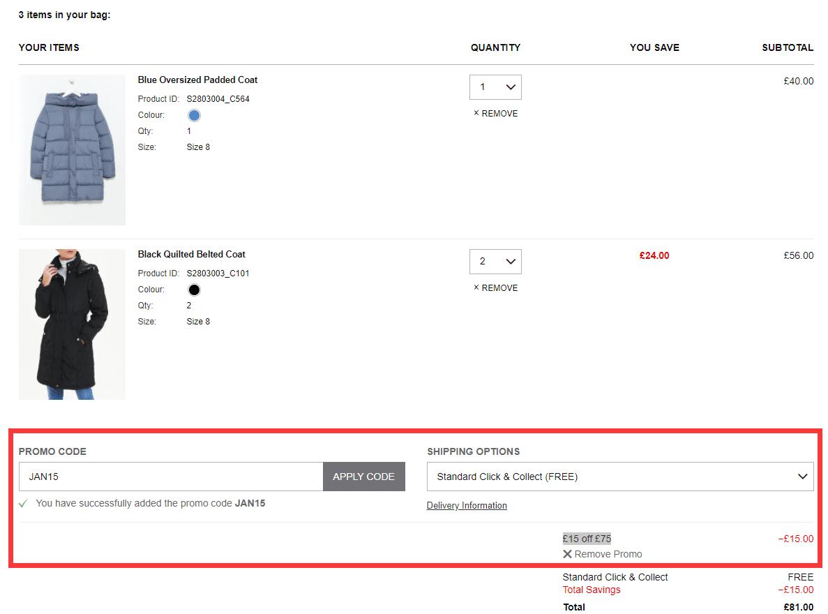 matalan.co.uk £15 off £75 discount code