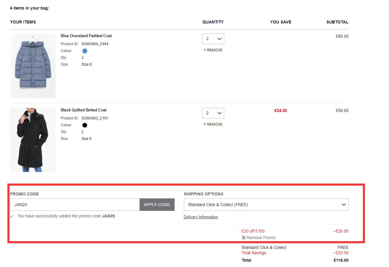 matalan.co.uk £20 off £100 discount code
