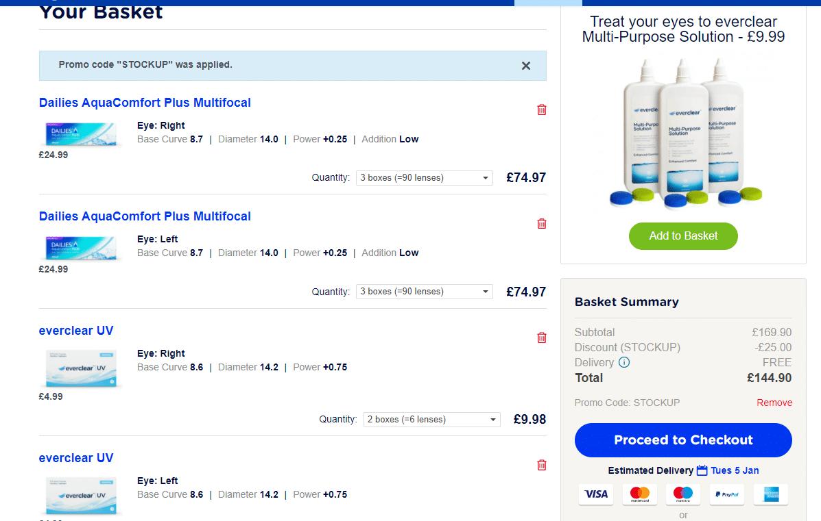 visiondirect.co.uk £25 off promo code