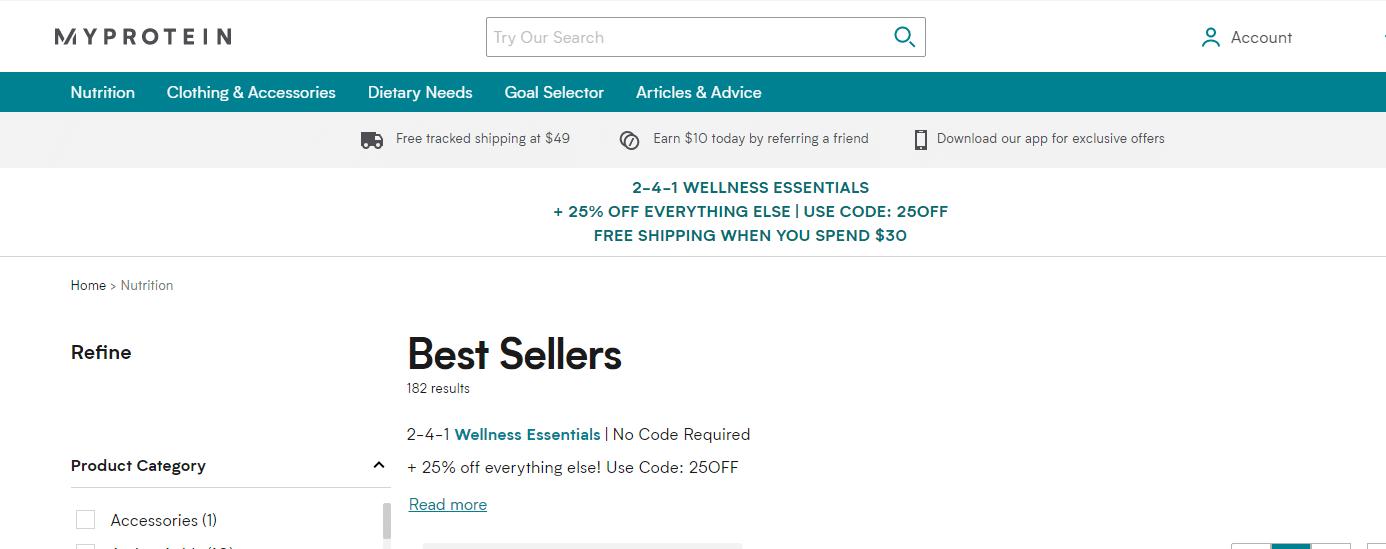 us.myprotein.com 25% off discount code