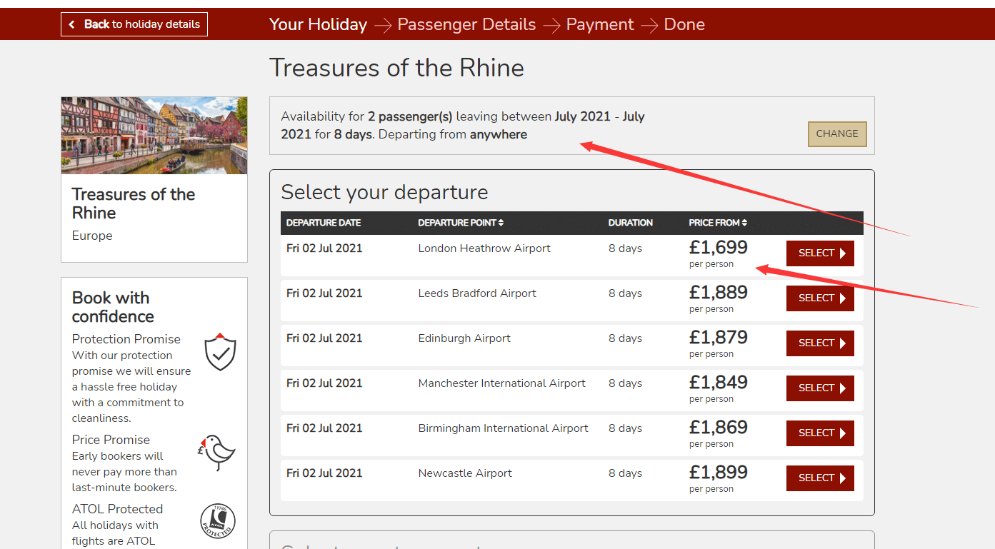 titantravel.co.uk Rhine holiday discount